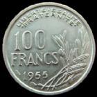 Photo numismatique  Monnaies Monnaies Françaises 4ème république 100 Francs 100 francs Cochet 1955 B, G.897 SUPERBE