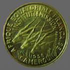 Photo numismatique  Monnaies Anciennes colonies Françaises Cameroun 25 Francs CAMEROUN, Afrique occidentale Française, 25 francs