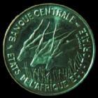 Photo numismatique  Monnaies Monnaies étrangères Afrique, Africa, Etats de l'Afrique Equatoriale 100 Francs Afrique, Africa, Etats de l'Afrique Equatoriale, banque centrale, 100 francs