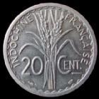 Photo numismatique  Monnaies Anciennes colonies Françaises Indochine 20 Centimes Indochine Française, 20 centimes 1945 C castelsarrazin, LEC.253 SUPERBE