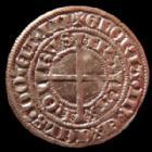 Photo numismatique  Monnaies Monnaies/medailles d'Alsace Strasbourg Gros au Lis STRASBOURG, STRASSBURG, gros au Lis 15e siècle, 3,50 grms, EL.384 SUPERBE+