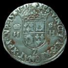 Photo numismatique  Monnaies Monnaies Royales Charles IX au nom d'Henri II Teston CHARLES IX au nom d'HENRI II, Teston 1561 L Bayonne, 9,34 grms, DY.1054 TB+/TTB
