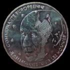 Photo numismatique  Monnaies Monnaies Françaises Cinquième république 100 francs Jean Monnet 100 francs Jean Monnet 1992, argent, G.907 SUPERBE+