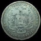 Photo numismatique  Monnaies Monnaies étrangères Venezuela 5 Bolivar VENEZUELA, 5 Bolivar 1912, KM.24,2 TB+