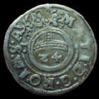 Photo numismatique  Monnaies Allemagne avant 1871 Allemagne, Deutschland, Lippe Detmold 1/24ème de Thaler Lippe Detmold, Simon VII 1613-1627, 1/24e taler 1614, 1,52 grms, Grote 108 var. TTB
