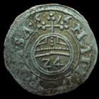 Photo numismatique  Monnaies Allemagne avant 1871 Allemagne, Deutschland, Rietberg Grafschaft 1/24ème de Thaler Rietberg Grafschaft, Johann III von Ostfriesland, 1/24e taler 1616, 1,39 grms, Buse 52 var. TTB+/TTB