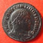 Photo numismatique  Monnaies Empire Romain CONSTANTIN I, CONSTANTINUS I, CONSTANTINO Follis, folles,  CONSTANTIN I, CONSTANTINUS I, follis Rome en 314, Soli Invicto Comiti, 2,99 grms, RIC 19 TTB+