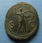Photo numismatique  Monnaies Empire Romain 1er Siècle CLAUDE I As, asse,  CLAUDE Ier As frappé à Rome en 41, bel exemplaire de poids élevé, 17,52 grammes!!! Cohen 84  TTB à superbe, belle patine