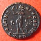 Photo numismatique  Monnaies Empire Romain CONSTANTIN I, CONSTANTINUS I, CONSTANTINO Follis, folles,  CONSTANTIN I, CONSTANTINUS I, follis Rome en 314, Soli Invicto Comiti, 3,06 grms, RIC 19 TTB à SUPERBE
