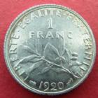 Photo numismatique  Monnaies Monnaies Françaises Troisième République 1 Franc 1 franc Semeuse de Roty 1920, G.467 SUPERBE