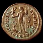 Photo numismatique  Monnaies Empire Romain LICINIUS I, LICINIO I,  Follis, folles,  LICINIUS I, follis Alexandrie en 315, Iovi Conservatori Avgg, 22 mm, 2,55 grms, RIC 8 R5!! TTB+ Beaux restes d'argenture R!