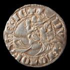 Photo numismatique  Monnaies Monnaies/médailles de Lorraine Thiebaut de Lorraine 1/4 de gros, dit Spadin THIEBAULT II, 1303-1312, 1/4 de gros au cavalier dit
