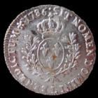 Photo numismatique  Monnaies Monnaies Royales Louis XVI Ecu aux branches d'olivier LOUIS XVI, Ecu au branches d'olivier, 1786 L avec son brillant d'origine !!29,35 grms, rare dans cet état !! SUPERBE+
