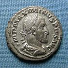 Photo numismatique  Monnaies Empire Romain MAXIMIN I, MAXIMINUS I, MAXIMINO I Denier, denar, denario, denarius MAXIMIN Ier, denier frappé à Rome en 235.236, Pax Augusti, RIC 12 TTB+