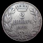 Photo numismatique  Monnaies Monnaies étrangères Yougoslavie, Jugoslavia, Jugoslavien 2 Dinara Yougoslavie, Jugoslavia, Alexander I, 2 dinara 1925, 9,98 grms, KM.6 TB à TTB