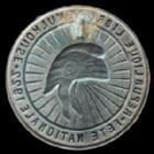 Photo numismatique  Monnaies Monnaies/medailles d'Alsace Mulhouse Epinglette MULHOUSE, épinglette uniface,(ardillon cassé) 31 mm, 1922, république libre de Mulhouse, fête Nationale, TTB+