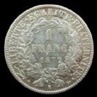 Photo numismatique  Monnaies Monnaies Françaises Troisième République 1 Franc 1 Franc Cérès 1872 K Bordeaux, G.465a TTB+