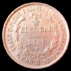 Photo numismatique  Monnaies Jetons Jeton de Bar, Restaurant, Hotel Jeton aluminium Lyon, jeton de Bar, EDEN BAR Grand diplôme d'honneur, jeton aluminium rond 36 mm, Paris 1892, TTB