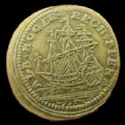 Photo numismatique  Monnaies Jetons Rechenpfennig Louis XV Rechenpfennig, Louis XV, Albrecht Hoger, Voilier, 19,5 mm, SUPERBE