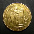 Photo numismatique  Monnaies Monnaies Françaises Deuxième République  Deuxième République, 20 Francs or type génie, 1848 A, Gadoury 1032 TTB+