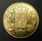 Photo numismatique  Monnaies Monnaies Françaises Louis XVIII 40 Francs or LOUIS XVIII, 40 Francs or, 1820 A, Variété 2 sur 1, 2ème exemplaires connus !!!!!! Gadoury 1092 Variante  R!R!R!