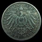Photo numismatique  Monnaies Allemagne après 1871 Allemagne, Deutschland, Bayern, Baviere 2 mark, Zwei mark BAYERN, BAVIERE, Otto, 2 mark, zwei mark 1898 D, J.45 TTB R!
