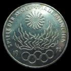 Photo numismatique  Monnaies Allemagne après 1871 Allemagne, Deutschland, Germany 10 Mark 10 mark JO Munchen 1972, Flamme Olympique, TTB