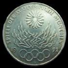 Photo numismatique  Monnaies Allemagne après 1871 Allemagne, Deutschland, Germany 10 Mark 10 Mark 1972, JO Munchen, flamme Olympique, TTB