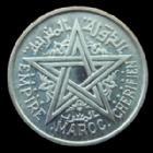 Photo numismatique  Monnaies Anciennes colonies Françaises Maroc 1 Franc Maroc, Morocco, Empire Chérifien, 1 franc 1370 AH/1951, LEC.228 FDC