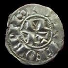 Photo numismatique  Monnaies Monnaies Féodales Aquitaine Denier, denar, denario, denarius Aquitaine, Seigneurie de Béarn, les centulles, denier 1120-1150, 0,69 grm, PA.3233 TTB+