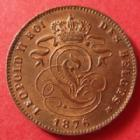 Photo numismatique  Monnaies Monnaies étrangères Belgique, Belgie, Belgien 2 centimes Belgique Belgique, Belgien, Leopold II, 2 centimes 1876, KM.35.1 SUPERBE