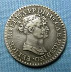 Photo numismatique  Monnaies Monnaies Françaises Napoleonides 1 Franco LUCQUES ET PIOMBINO, Félix Bacciochi et Elisa Bonaparte, 1807, 1 Franco, VG.1475 TTB+