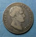 Photo numismatique  Monnaies Monnaies Françaises Consulat 1 Franc BONAPARTE 1er Consul, AN 12 A, 1 Franc, Gadoury 442 TTB