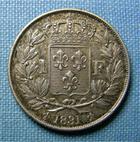Photo numismatique  Monnaies Monnaies Fran�aises Henri V 1 Franc HENRI V 1831, 1 Franc, VG.2705 SUPERBE+