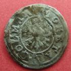 Photo numismatique  Monnaies Monnaies/medailles d'Alsace Colmar Vierer COLMAR, vierer 16e siècle, 0,63 grm, EL.35 Variante TB+