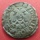 Photo numismatique  Monnaies Monnaies/medailles d'Alsace Colmar 3 Kreuzers COLMAR, 3 kreuzers, Rudolf II, Rodolphe II, 1576-1612, 1,93 grms, EL.74 variante, TB à TTB