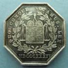 Photo numismatique  Monnaies Jetons Jeton de Notaire Jeton octogonal en argent DREUX, jeton de la chambre des Notaires, jeton octogonale de 32 mm en argent, poinçon main - argent, SUPERBE à FDC