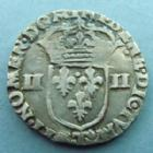 Photo numismatique  Monnaies Monnaies Royales Louis XIII 1/4 d'Ecu � la croix fleurdelis�e LOUIS XIII, 1/4 Ecu � la croix fleudelis�e, avers du cot� de la croix, 1615 T Nantes, 9,57 grms, L4L.16 TTB