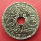 Photo numismatique  Monnaies Monnaies Françaises Troisième République 25 centimes Lindauer 25 centimes Lindauer .1939., G.381 infimes traces sinon FDC