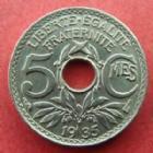 Photo numismatique  Monnaies Monnaies Françaises Troisième République 5 centimes Lindauer 5 centimes Lindauer 1935, G.170 SUPERBE à FDC