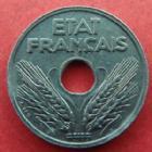 Photo numismatique  Monnaies Monnaies Françaises Etat Français 10 Centimes 10 centimes zinc grand module 1941, G.290 petites tâches sinon SUPERBE à FDC