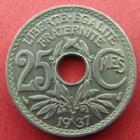 Photo numismatique  Monnaies Monnaies Françaises Troisième République 25 centimes Lindauer 25 centimes Lindauer 1937, G.380 SUPERBE+