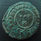 Photo numismatique  Monnaies Empire Romain CRISPUS, CRISPE, CRISPO Follis, folles,  CRISPUS, 317-326, follis ou nummus Trêves (Trier), Caesarum Nostrorum vot x, 19-20 mm, 3,31 grms, C.44 TTB