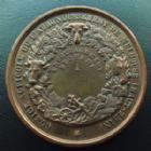 Photo numismatique  Monnaies Monnaies/medailles d'Alsace Mulhouse Médaille bronze MULHOUSE, NAPOLEON III, comice agricole de l'arrondissement de Mulhouse (1861 ou 1868), medaille bronze 51 mm, pts coups tranche, 57,70 g, TTB à SUP