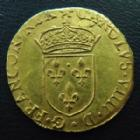 Photo numismatique  Monnaies Monnaies royales en or Charles IX Ecu d'or au soleil CHARLES IX, Ecu d'or au soleil 1567 B Rouen, 3,39 grms, DY.1057 presque SUPERBE