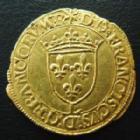 Monnaies royales en orFrançois IerFRANCOIS Ier, Ecu d'or à la croisette 1e type, Bayonne, presque SUPERBE
