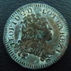 Photo numismatique  Monnaies Monnaies/médailles de Lorraine Léopold Ier Liard de Lorraine LEOPOLD I, liard de Lorraine 1706 Nancy, 3,23 grms, Flon N°46 P.879 TB à TTB/ TTB