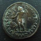 Photo numismatique  Monnaies Empire Romain LICINIUS II, LICINIO II, LICINO II Follis, folles,  LICINIUS II César, follis ou nummus Antioche en 317-320, buste consulaire avec la Mappa, Jupiter et captif, 2,52 grms, RIC 29 R1, TTB à SUPERBE