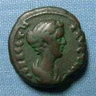 Photo numismatique  Monnaies Colonies Romaines 2ème siècle FAUSTINE Fille Tétradrachme EGYPTE, ALEXANDRIE, FAUSTINE Fille, Tétradrachme, ISIS PHARIA, TTB