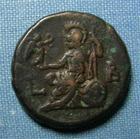 Photo numismatique  Monnaies Colonies Romaines 3ème siècle ELAGABAL Tétradrachme EGYPTE, ALEXANDRIE, ELAGABAL, Tétradrachme, ATHENA Sear 7619 TTB